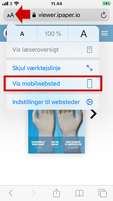 Mobilwebsted